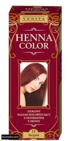 Henna Color hajfesték 11 burgundi vörös 75ml