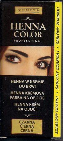 Henna color szemöldök és szempillafesték 15 g fekete