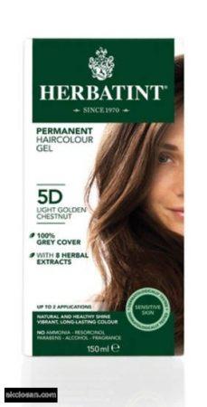 Herbatint természetes tartós hajfesték 5D ( világos aranygesztenye) 150ml