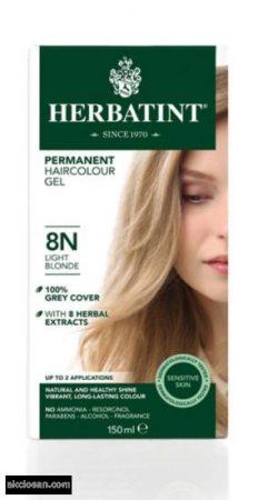 Herbatint természetes tartós hajfesték 8N ( világos szőke) 150ml