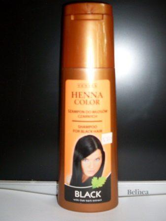 Henna color hajsampon gyógynövényes fekete hajra 250 ml