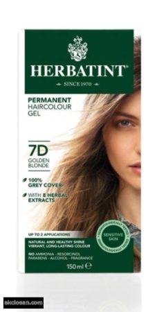 Herbatint természetes tartós hajfesték 7D ( arany szőke) 150ml