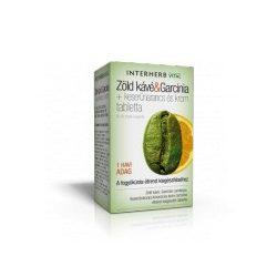 Zöld kávé&Garcinia + keserűnarancs és króm tabletta 60 db