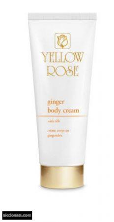 YELLOW ROSE - Gyömbéres testápoló krém selyemproteinekkel 250 ml