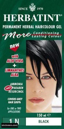 Herbatint természetes tartós hajfesték 1N (fekete) 150ml