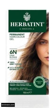 Herbatint természetes tartós hajfesték 6N ( sötétszőke) 150ml